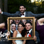 bridal party in a frame